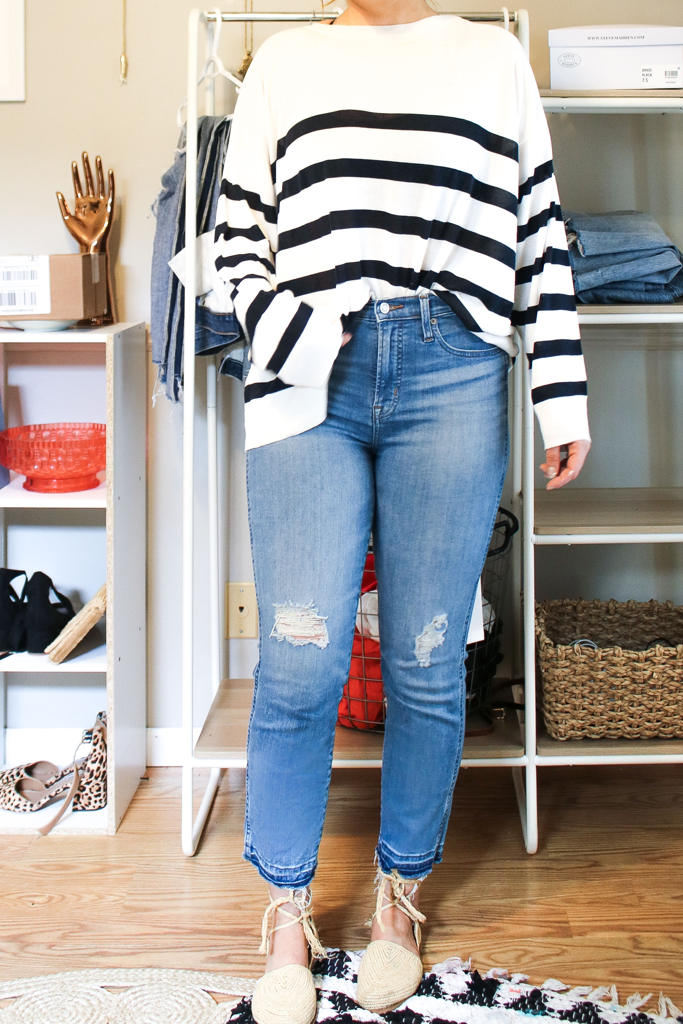 Finding denim we love = SO. DANG. HARD. The good news is that J.Crew is nailing jeans right now. We're trying 5 women's pairs. #DressingRoomSelfies.