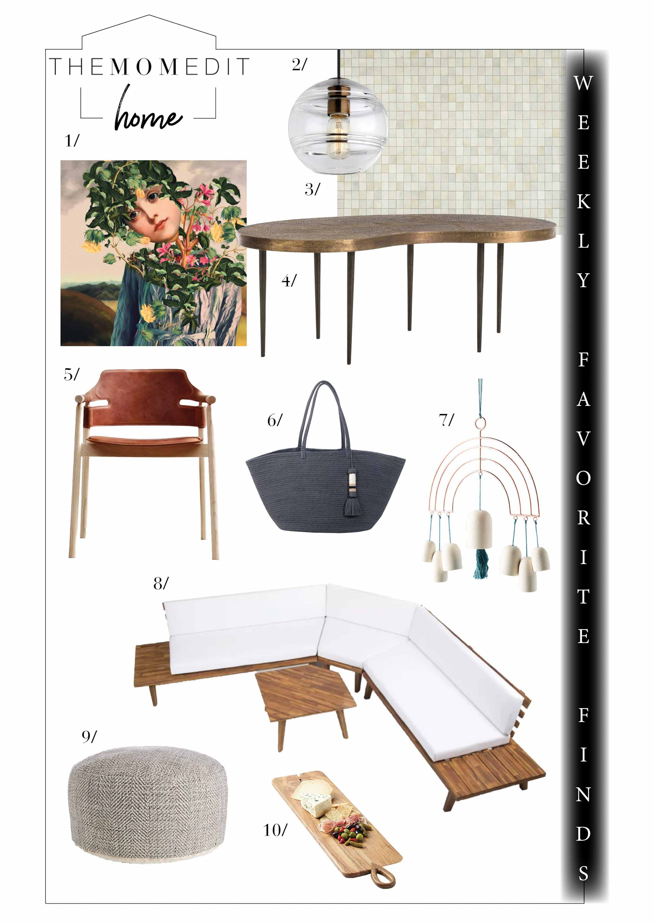 Summer fun furnishings & accents, inside & out for this week's favorite finds. Plus, sales at One Kings Lane, west elm, Crate & Barrel, & Nordstrom. On it!