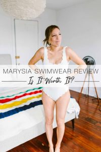 Gorg scalloped edges & a girl-next-door vibe...Marysia swimwear has it... + a hefty price tag. We're giving it the #momlife test. 5 points from our review.