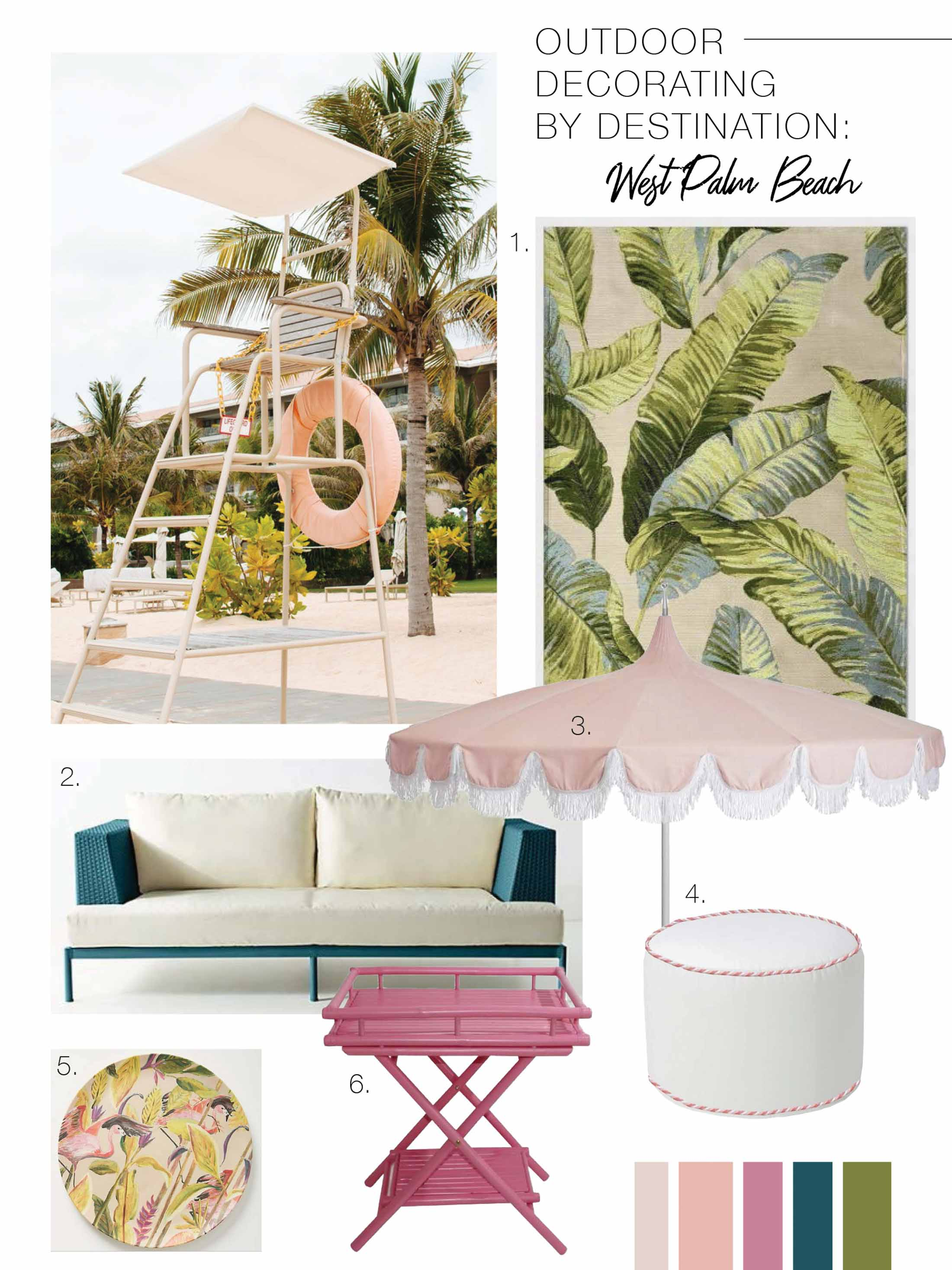 Found! The perfect backyard getaway: a vacation on your patio. These 6 destination-inspired outdoor decorating ideas are on fleek. Let's go.