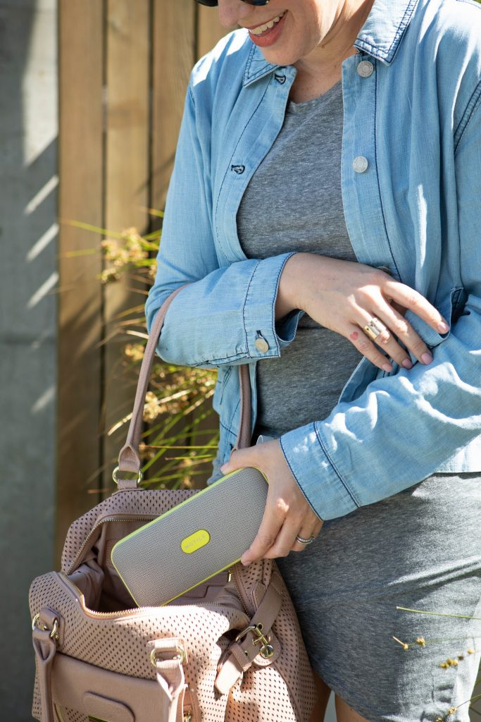 Solutions for moms on-the-go — we got 'em. The Motile wireless phone charger & portable bluetooth speaker are on point. See the game-changing commence.