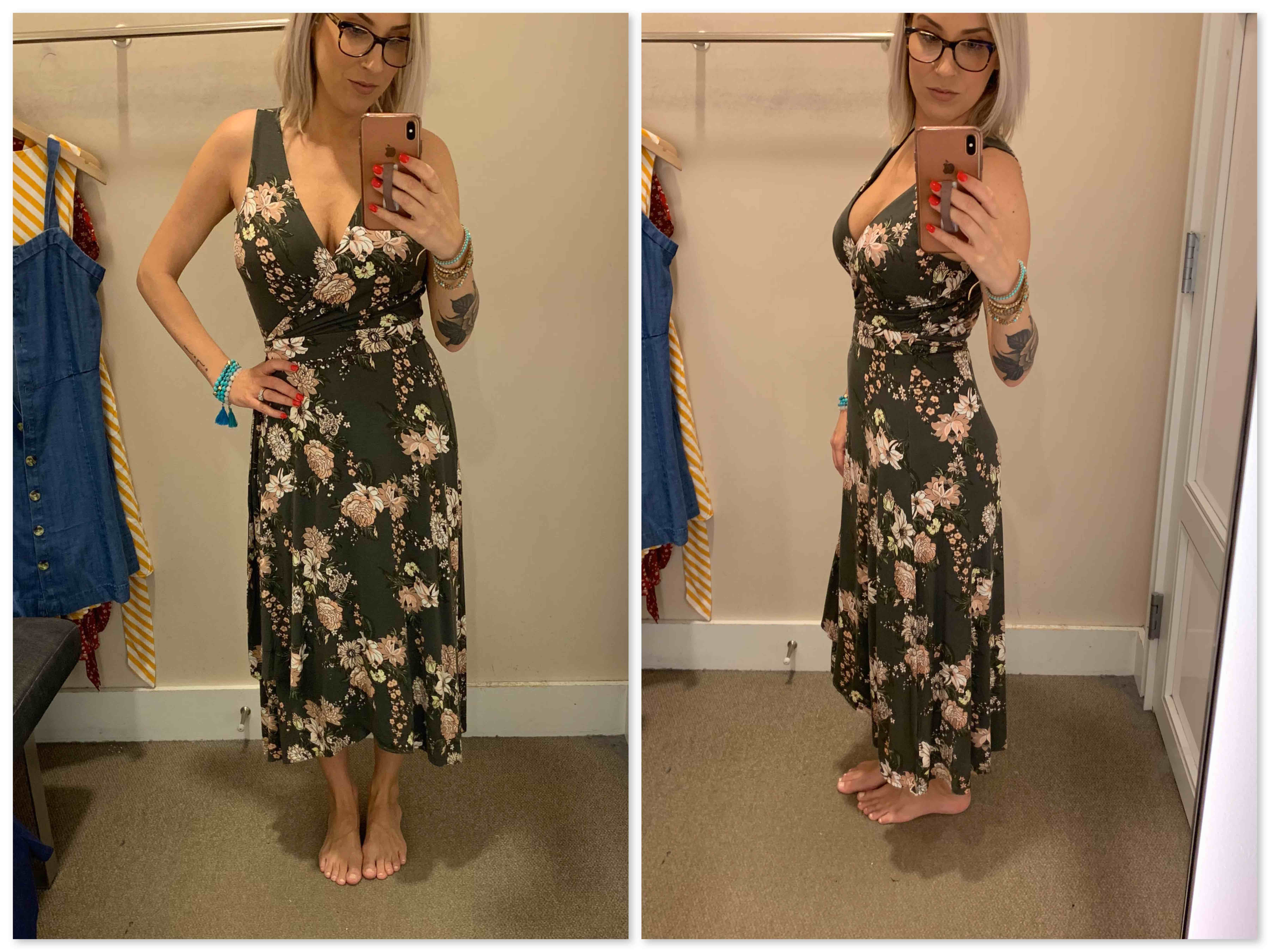 LOFT has summer dresses on lock. We tried flowy dresses, wrap dresses, nursing-friendly dresses & a few for wedding guests. #MirrorSelfies, right here.