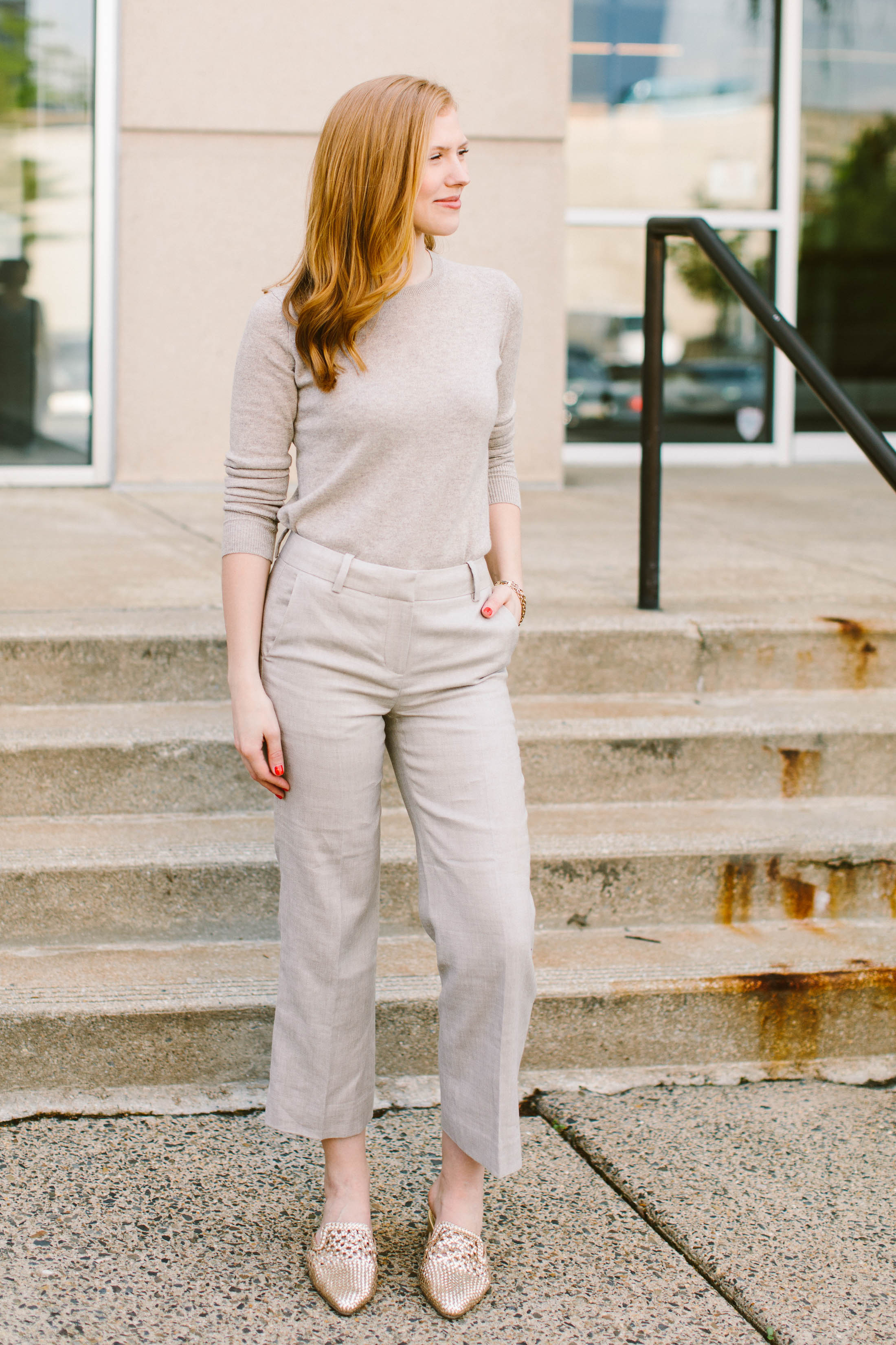 Dressing for the office is HARD in summer. Hot outside, FREEZING inside. We've got 4 foolproof work outfit ideas for exactly this. See what we're wearing.