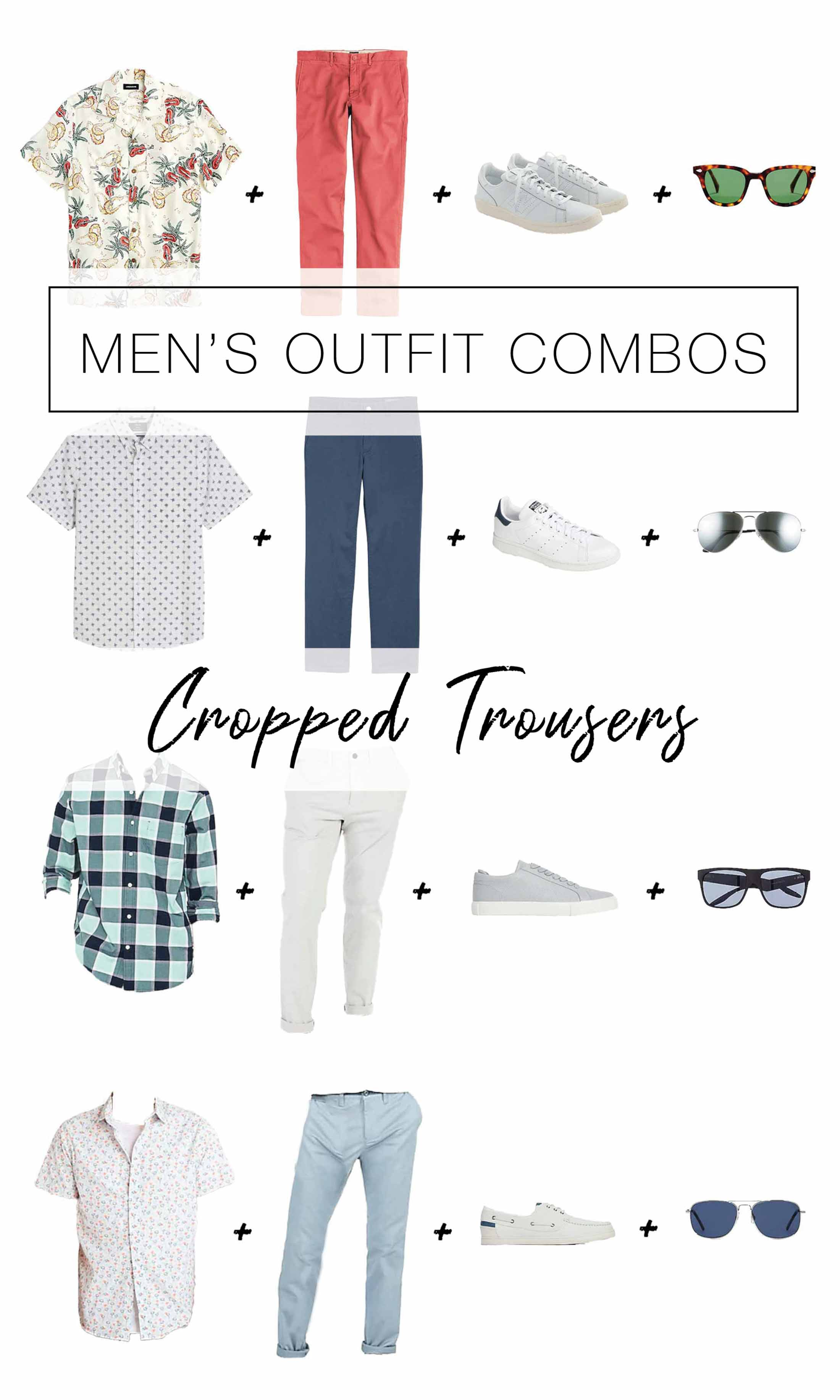 Cropped pants for men? It's happening. We're diving into this casual-cool summer look for guys with a few how-to tips & outfit ideas. Have a look.