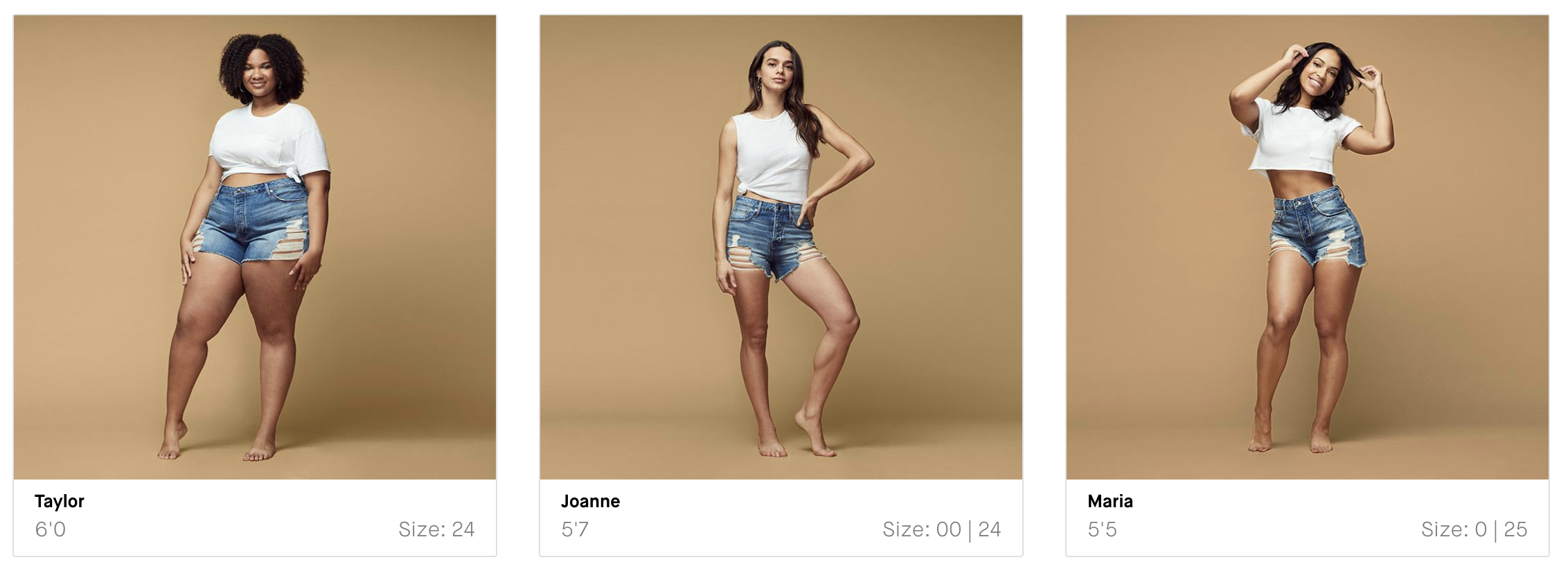 High-rise jean shorts that really flatter curvy women? Good American. These denim shorts are SO GOOD, in so many sizes. Mamas, check these out.