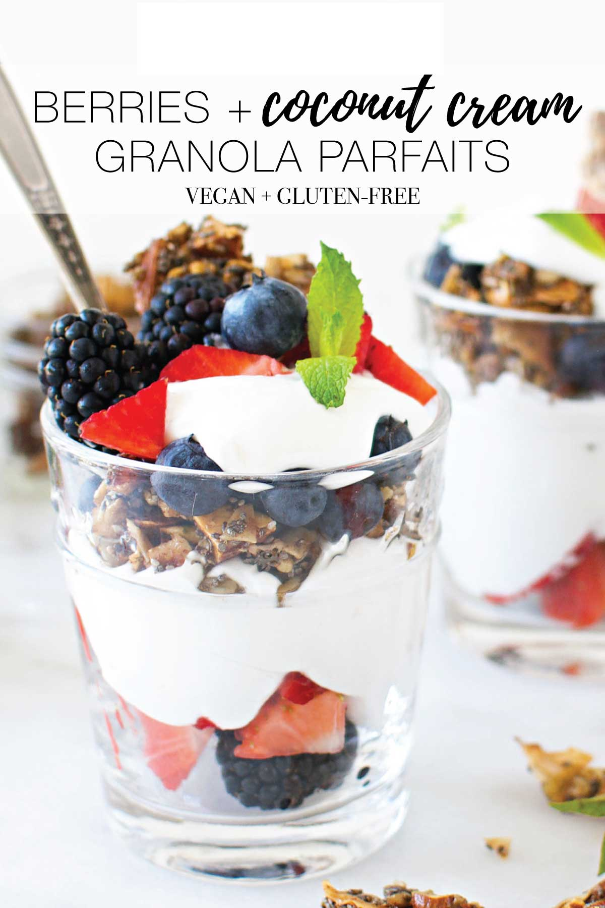 Perfectly timed, The Mom Edit is mixing up the easiest summer dessert: berries + coconut cream granola parfaits. YUM. Vegan & gluten-free. Try it here!