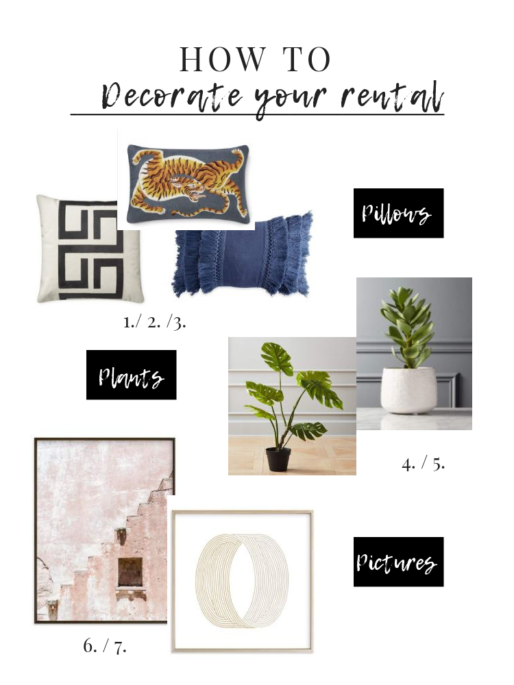 Your house or apartment may be a rental, but it should still feel like HOME. We have 3 simple ways to do that: plants, paintings & pillows. See how.
