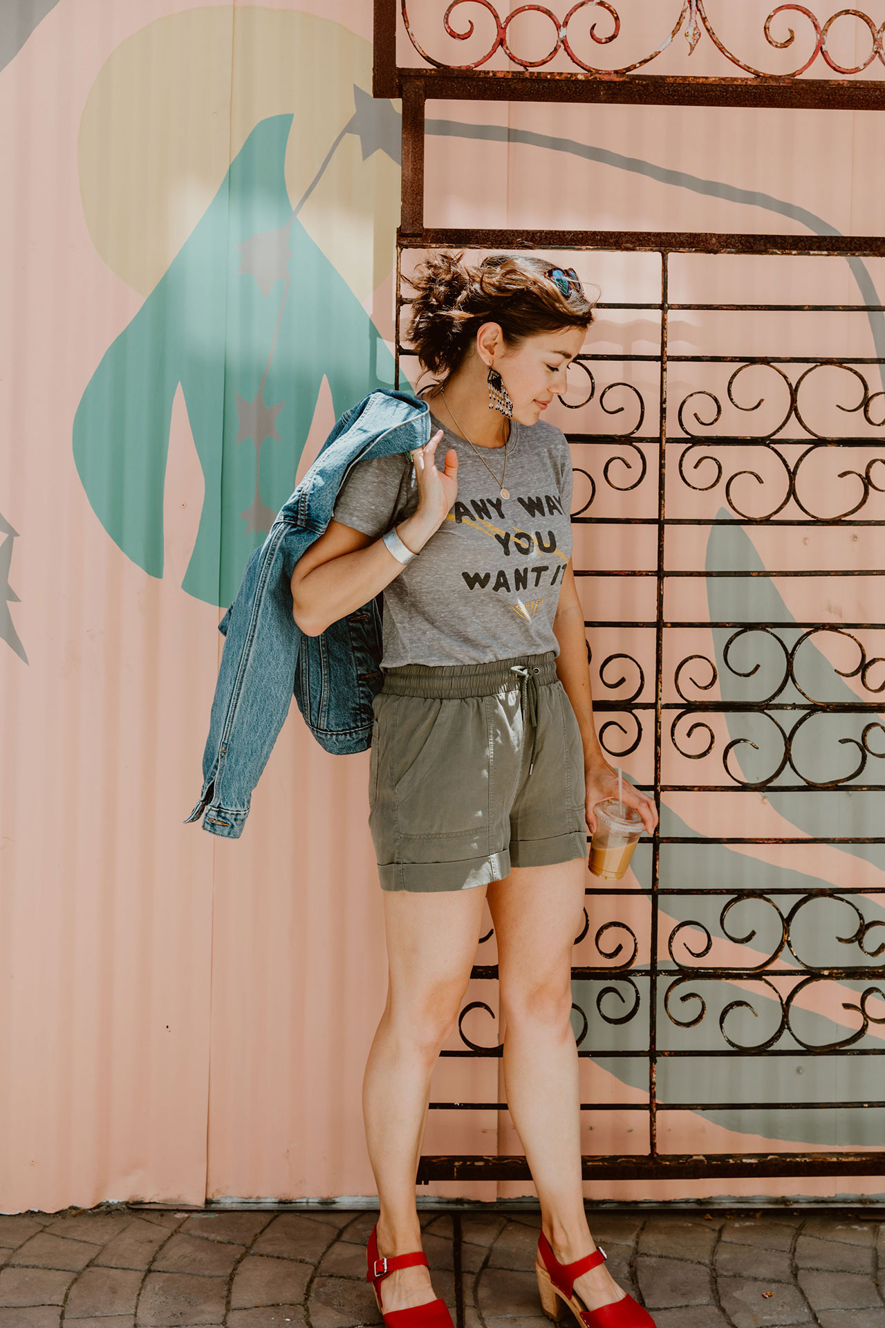 A cute summer outfit can't get any comfier than PJs. We're going full-on cozy with a super-soft band tee & drawstring shorts. YES to our new go-to.