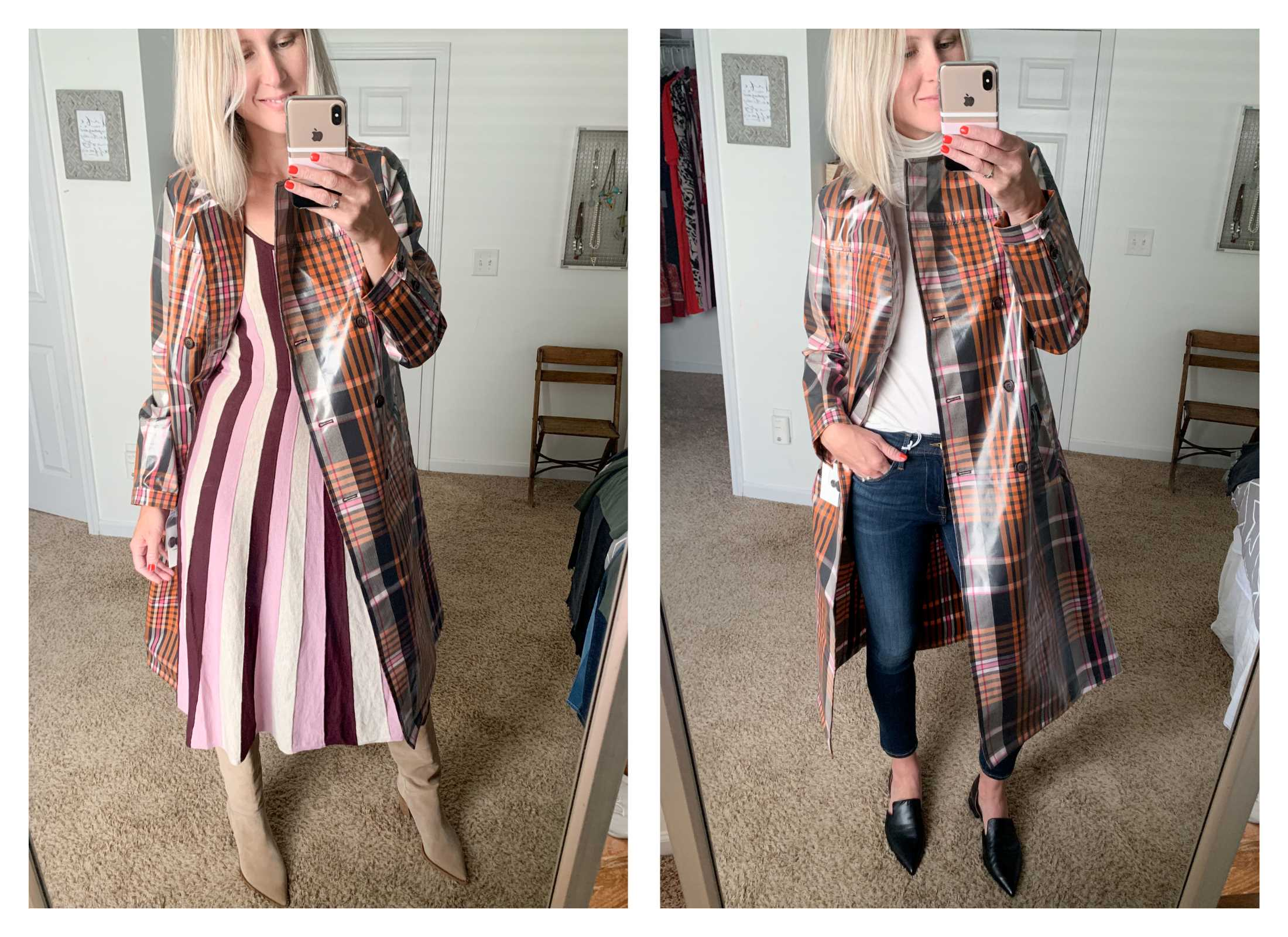 Mamas, treat yo'self to this plaid trench coat (also a rain jacket). The Anniversary Sale is here to help you do that.