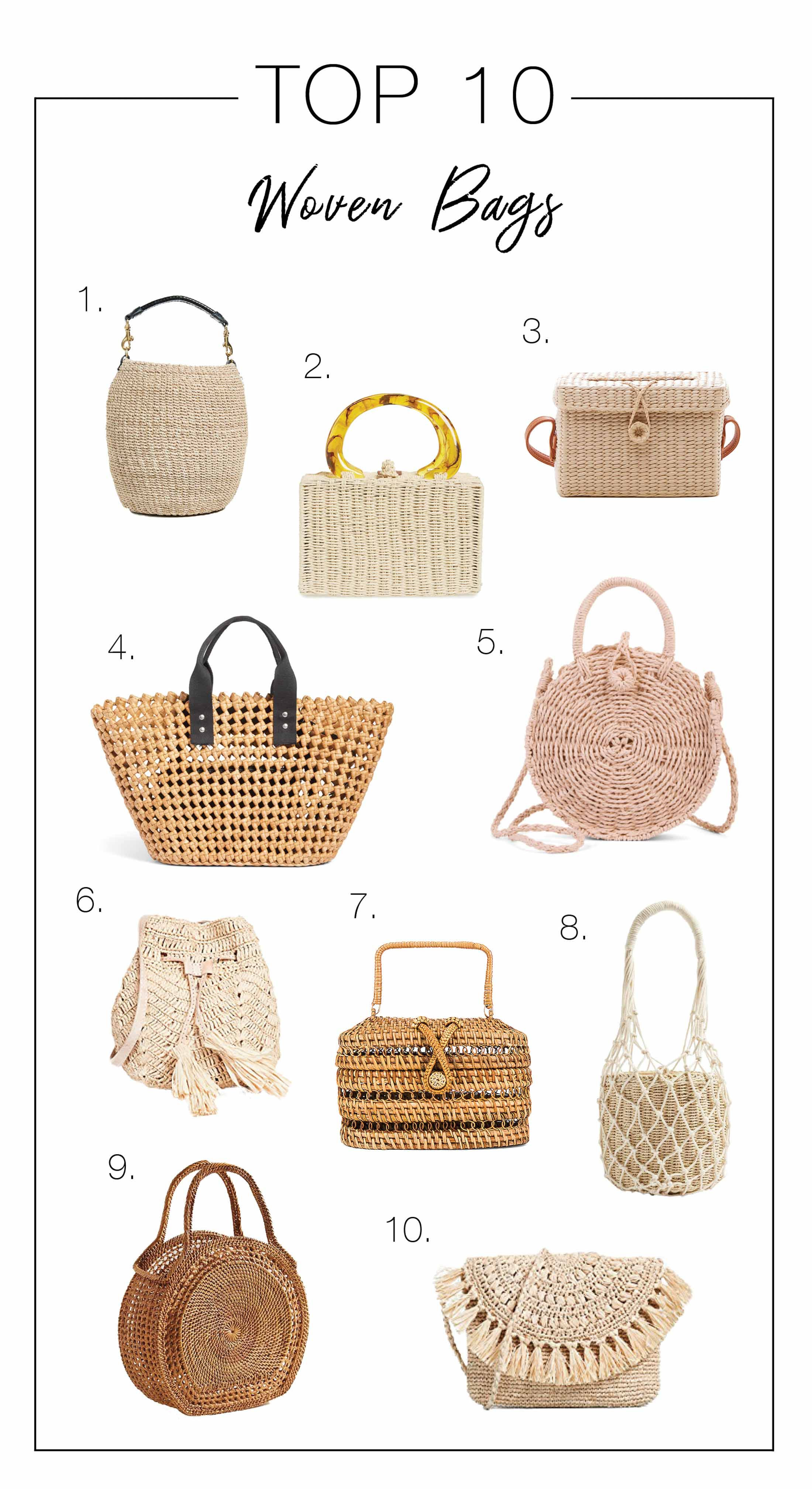 Light & airy...that's exactly what we need for summer. We're lovin' the open-weave trend & rounded up our fave straw & woven bags of the season. See inside.