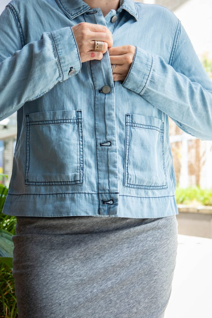 On-trend. Boxy. Lightweight. Sustainable. We've found the denim-style jacket of our dreams. Made of lyocell & perfect for summer. Check it out.