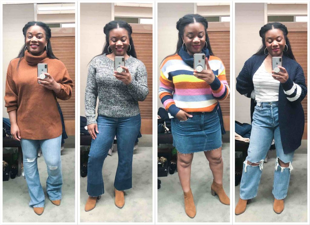 Spanx cropped flare leggings, raw hem miniskirts, high-waist dad jeans & athleisure = so many casual-chic outfits to take home from the Anniversary Sale. Cha-ching.