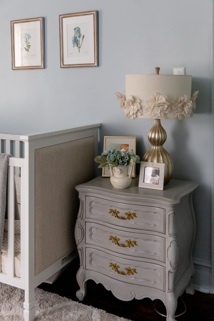 Found it! The perfect color for baby's room. We heart a strong gender-neutral shade (today, Sleepy Blue by Sherwin Williams) for his, her or their nursery.
