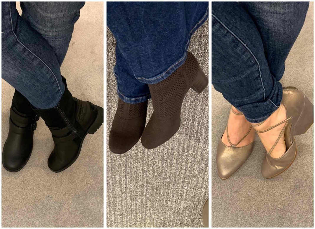 EILEEN FISHER, UGG, Sorel, Sofft, Born, Dansko...we're trying all the stylish comfortable shoes in the Anniversary Sale. Our reviews (+ comfort score) here.