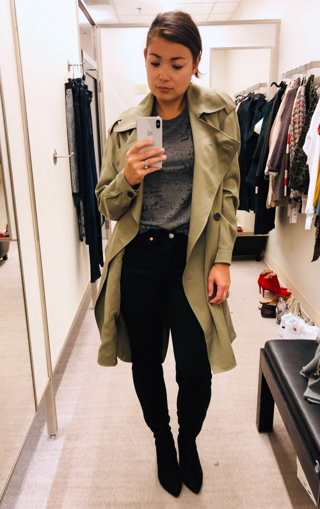 ALLSAINTS trench coat, plaid jackets, vegan leather, cozy cardis — the outerwear in the Anniversary Sale is so scrumptious, we're all heart eyes & drool.