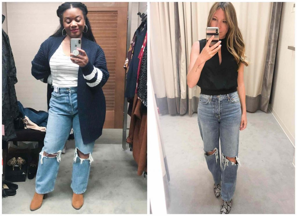 We've officially tried on ALL the jeans in the Anniversary Sale. FRAME, AG, PAIGE...leopard print, skinny, dad jeans, boyfriend...these are our favs.