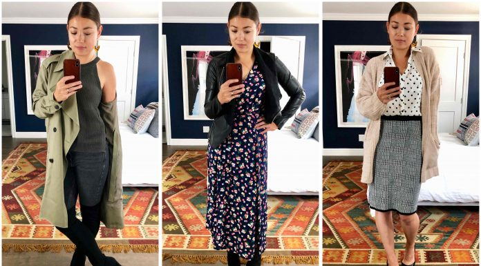 What do influencers actually buy from the Anniversary Sale? Vegan leather jackets, OTK boots, Vince Camuto skirts — & a few other items in this try-on sesh.
