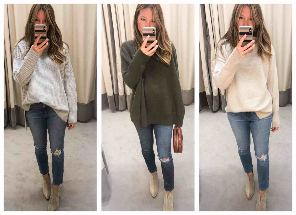 We must discuss these sweaters — long, oversized, cashmere — from Vince & Nordstrom Signature...they're super-soft, thick & delicious.