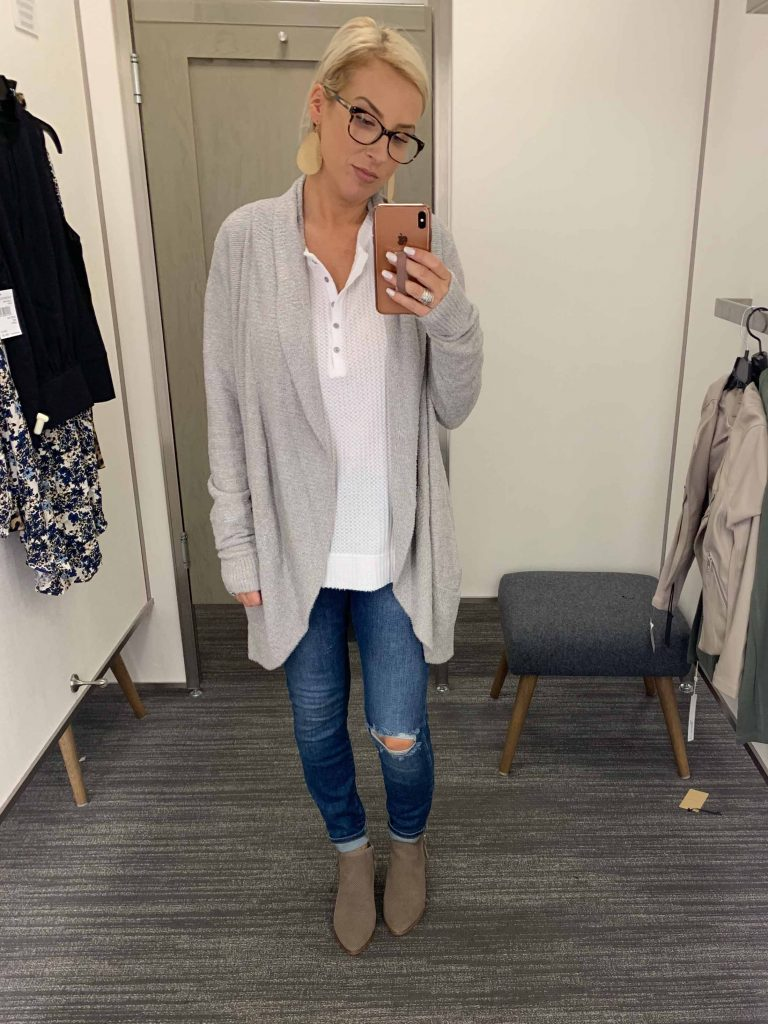 The best part of the Anniversary Sale...looking forward to fall. This Barefoot Dreams cozy-chic cardigan is exactly that. WORD.