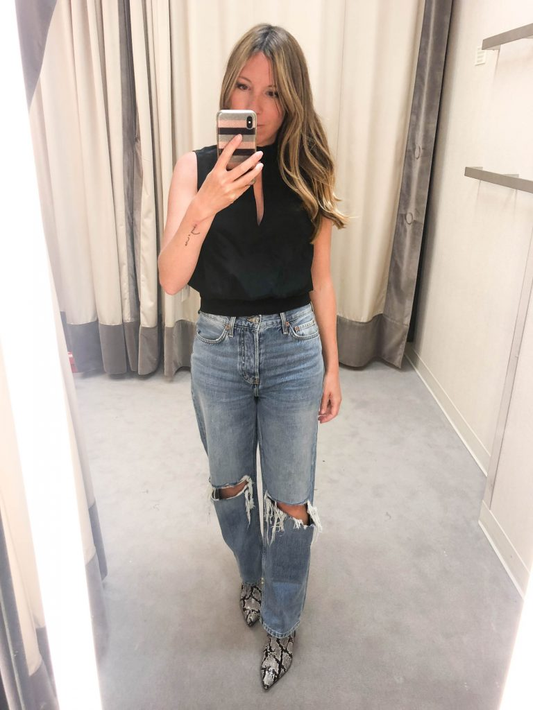 Dad jeans are the new mom jeans. We're calling it. The Anniversary Sale has us trying allll the fall trends for day & night. Here's how to wear 'em.