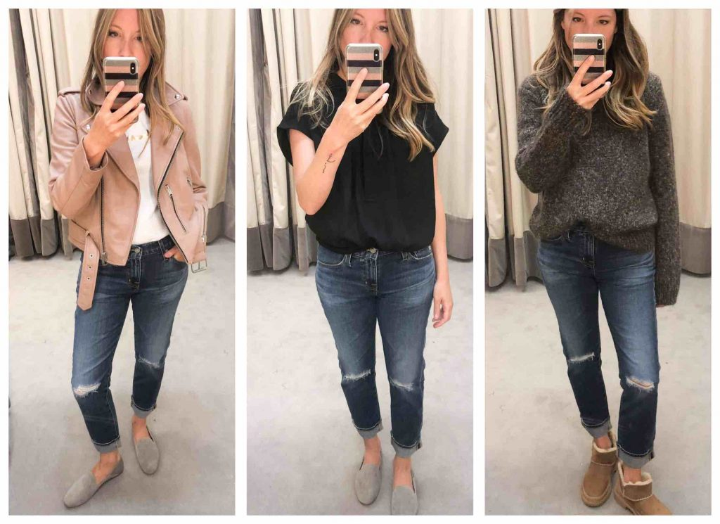 It's the battle of the mom jeans in here — boyfriend jeans, dad jeans, flares — these AG denim from the Anniversary Sale have us swooning. YES.