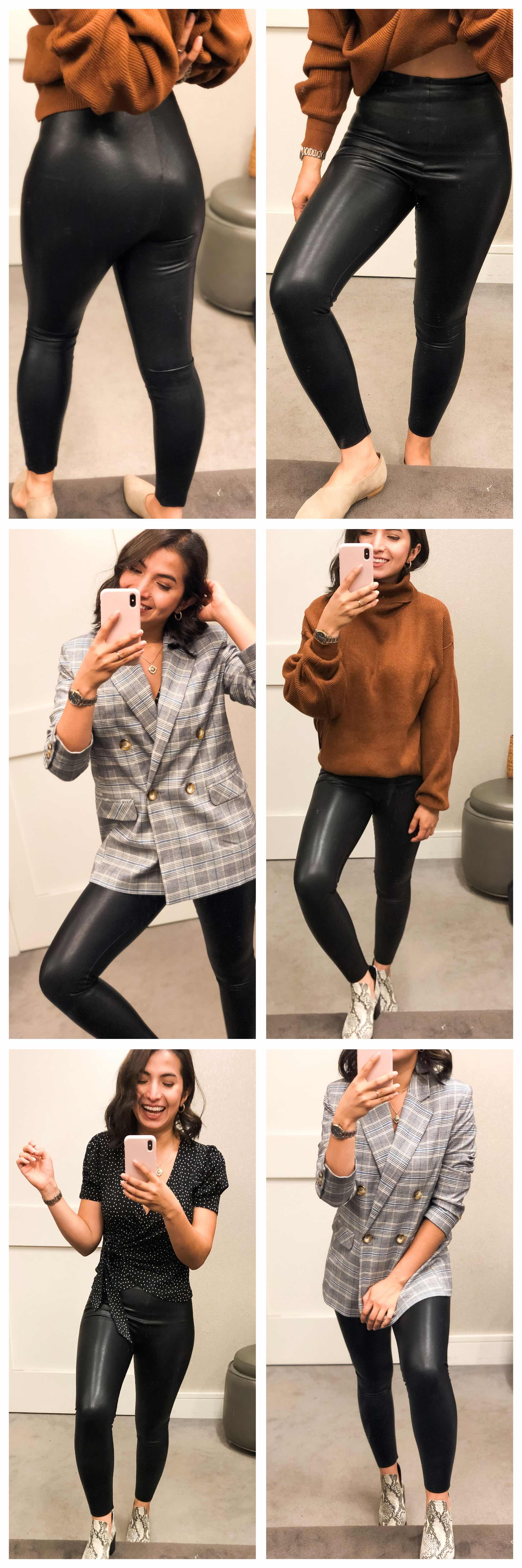These Commando faux leather leggings for fall & winter might just replace those Spanx. The Anni Sale previews how to wear 'em this season.