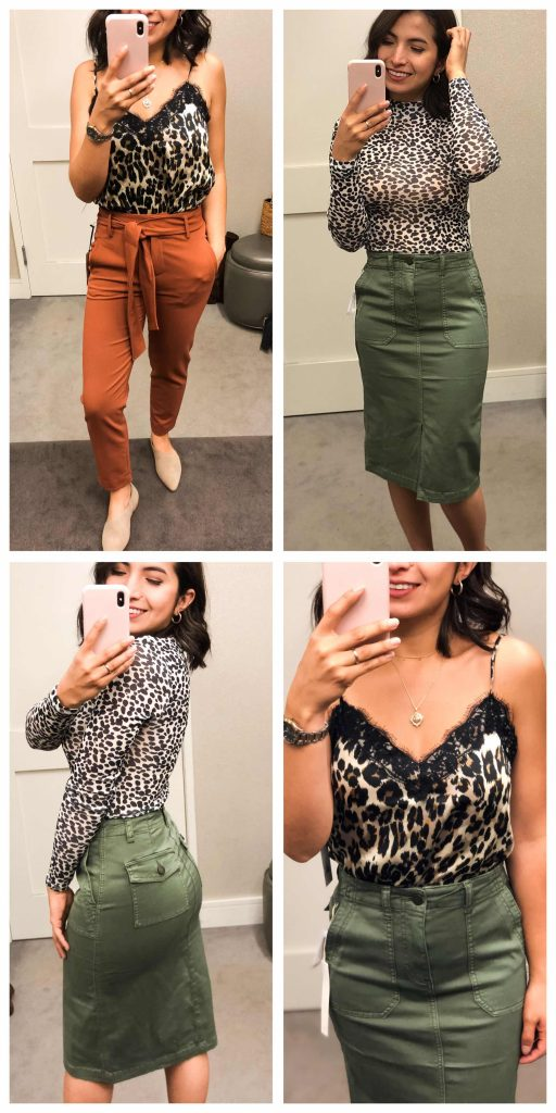 Caslon cargo skirt, a HOT silky cami in leopard, cool animal print from Topshop...it's X-Mas in July & Anniversary Sale Early Access is making it happen!