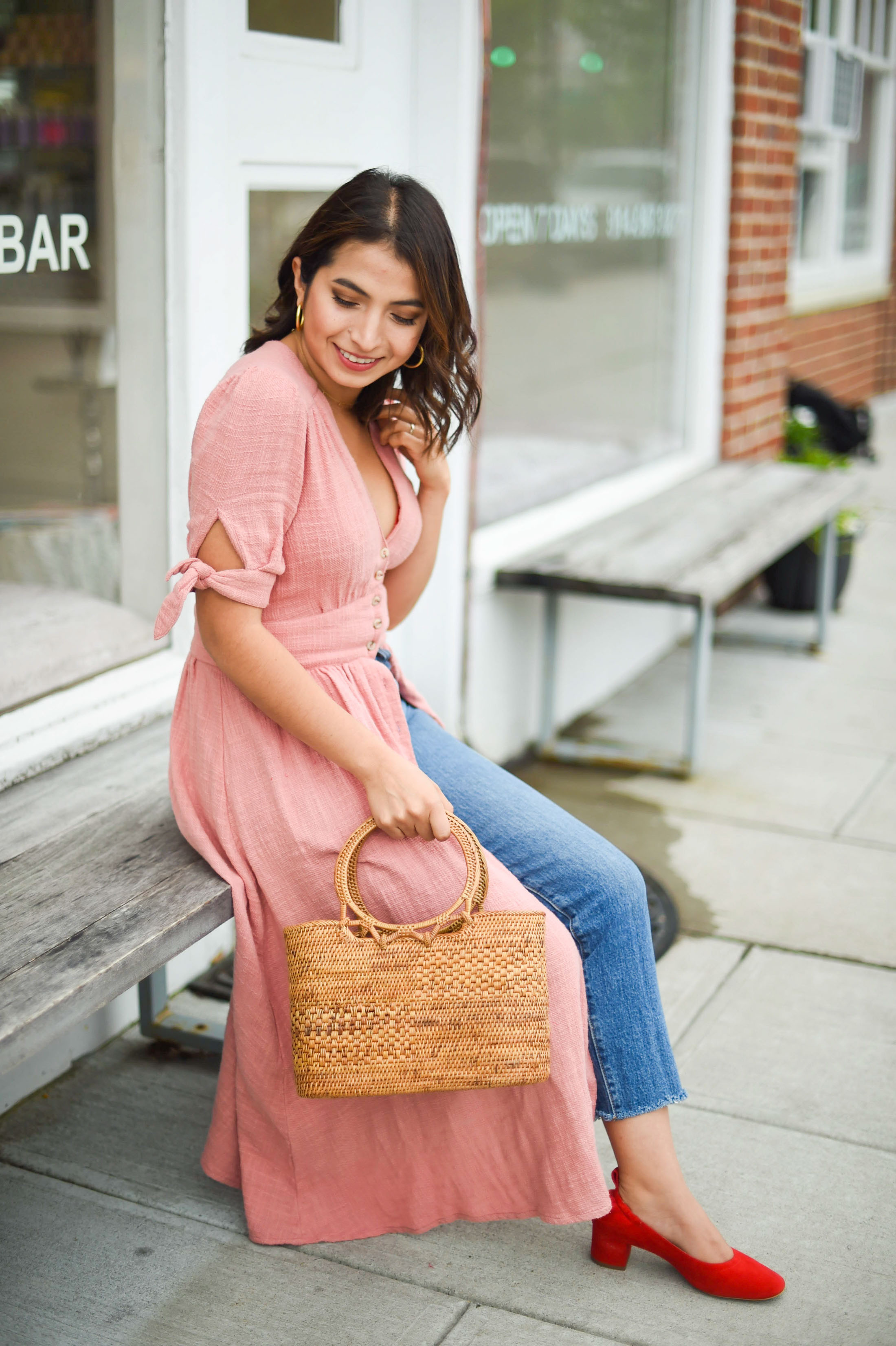 We found a Free People summer dress so good, we're wearing it multiple ways. The button-front midi dress of our dreams is totally magical. See how.