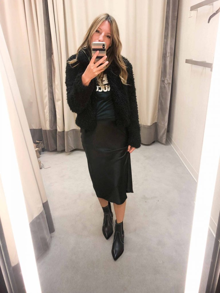 Chelsea28 nails it with gorg, silky midi skirts (1 in snake) & Free People's faux-leather midi is to die for. We're all heart eyes over this anni sale.