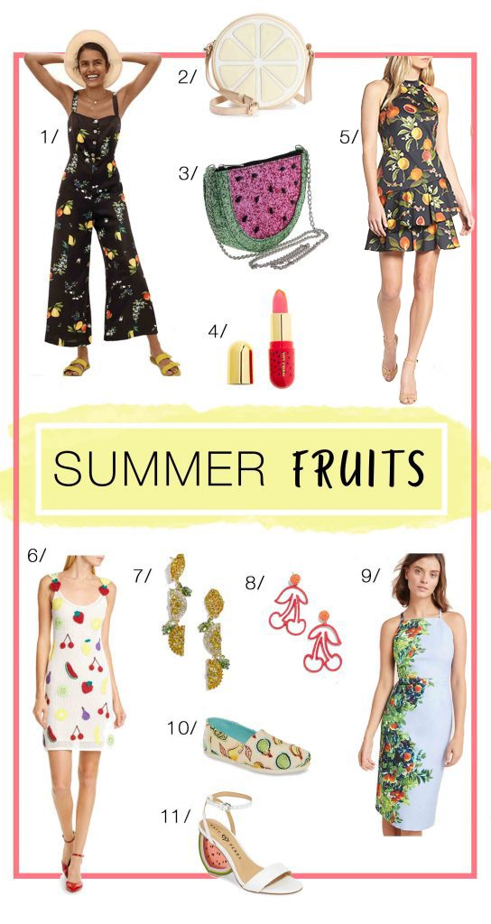 It's HOT, Mamas! 'Tis the season for any fruit we find. We've got fruit-inspired pieces (kids & mamas) — citrus grove jumpsuit, watermelon clutch...so FUN!