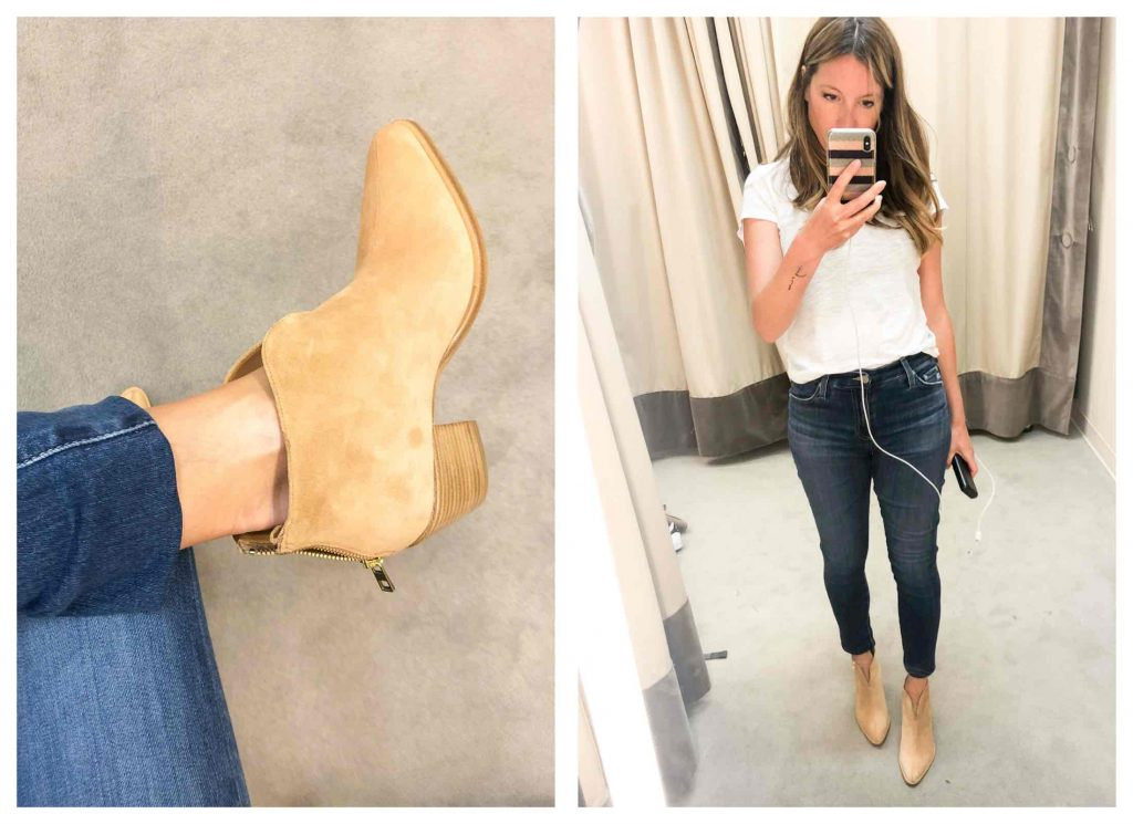 Gang, we tried on MOST of the shoes & boots in the #NSale. PAIGE booties, EILEEN FISHER pumps, Vince flats, Cole Haan wedges....See how comfy they are.