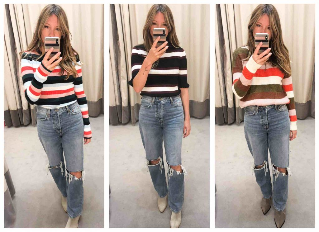 Nothing says fall for TME more than a good striped sweater. Our top finds from FRAME & Madewell add a pop of color w/out losing street cred.