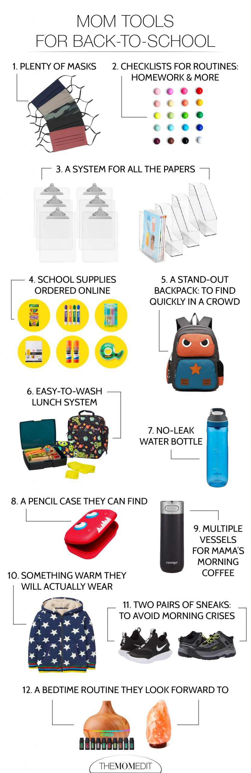 Back-to-school means shopping for school supplies, plus routines & home organization for keeping kids on schedule & ready for class. We're on it, Mama.