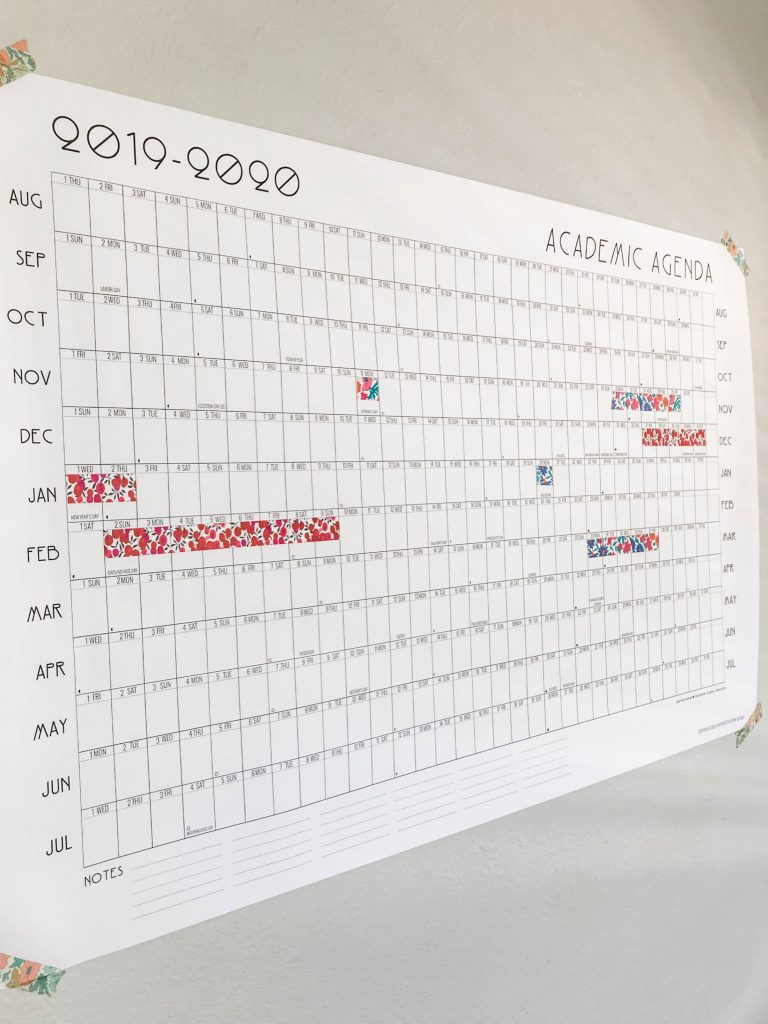 picture relating to Printable School Year Calendar identified as A Blank, Printable Calendar For The Fam Merely Inside of Year For
