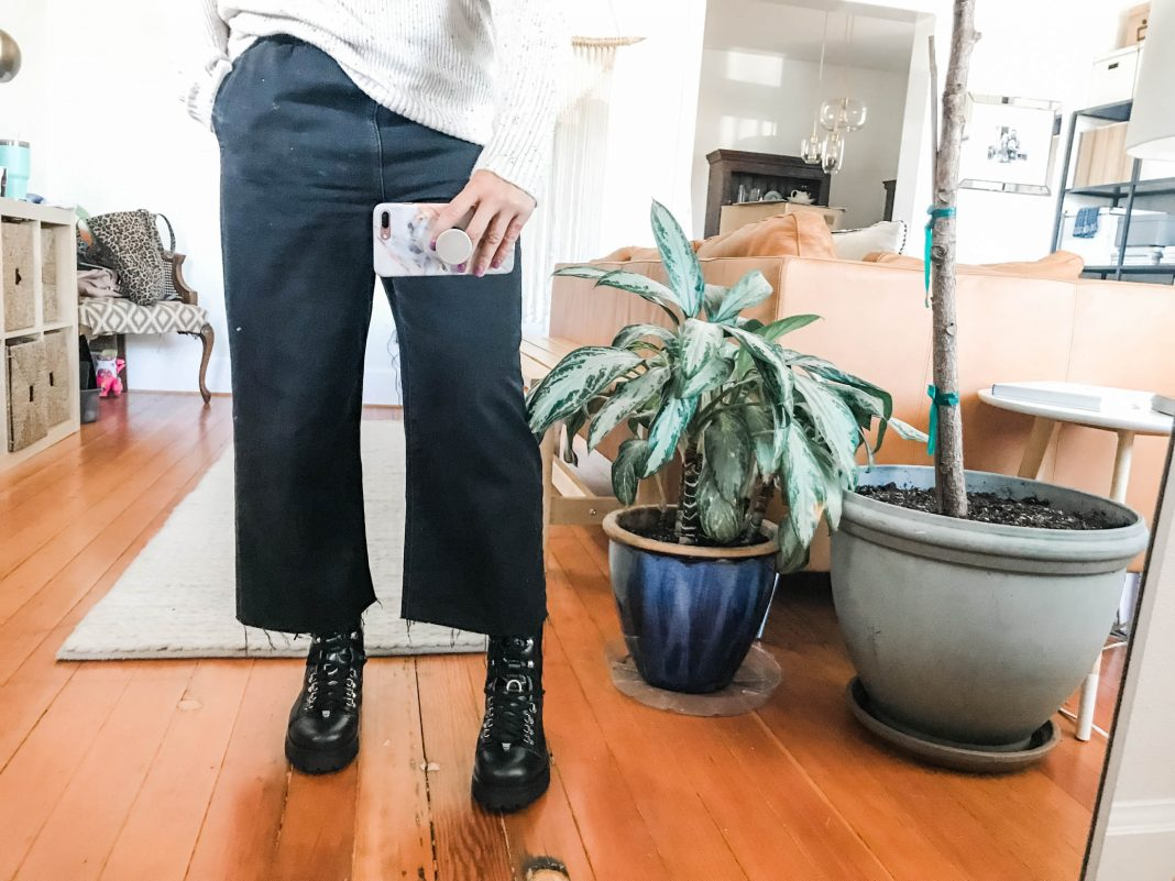 The search for a pair of black combat boots — that combine punk & cute just so — is long & hard. We're trying AllSaints, Dr. Martens & Fryes...find out.