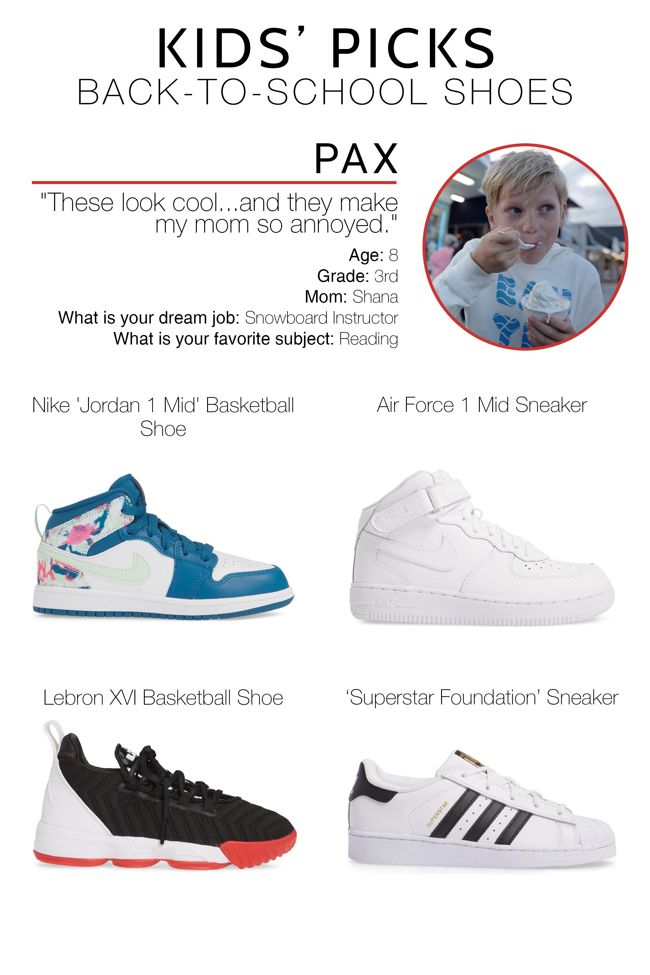 Kids Pick Their Back-To-School Shoes