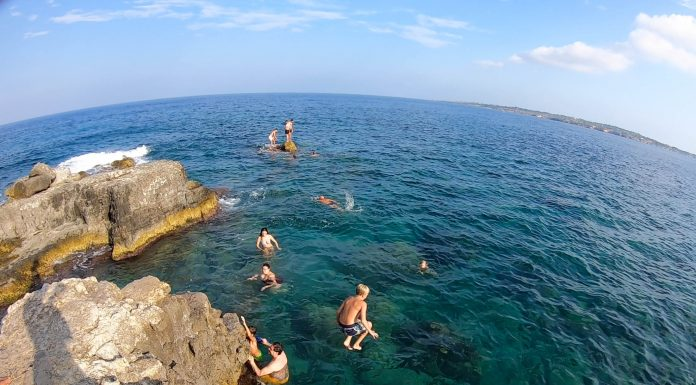Swimming platform? Swimming hole? Cliff-jumping spot? It's all of those things, really. This spot became the central point for our entire week in Sicily.