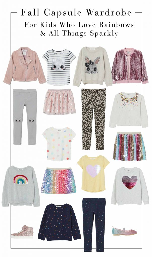 Shopping for kids who love to shine? We got you. A kids' capsule wardrobe with sequins, rainbows & bling. Back-to-school clothes — done.