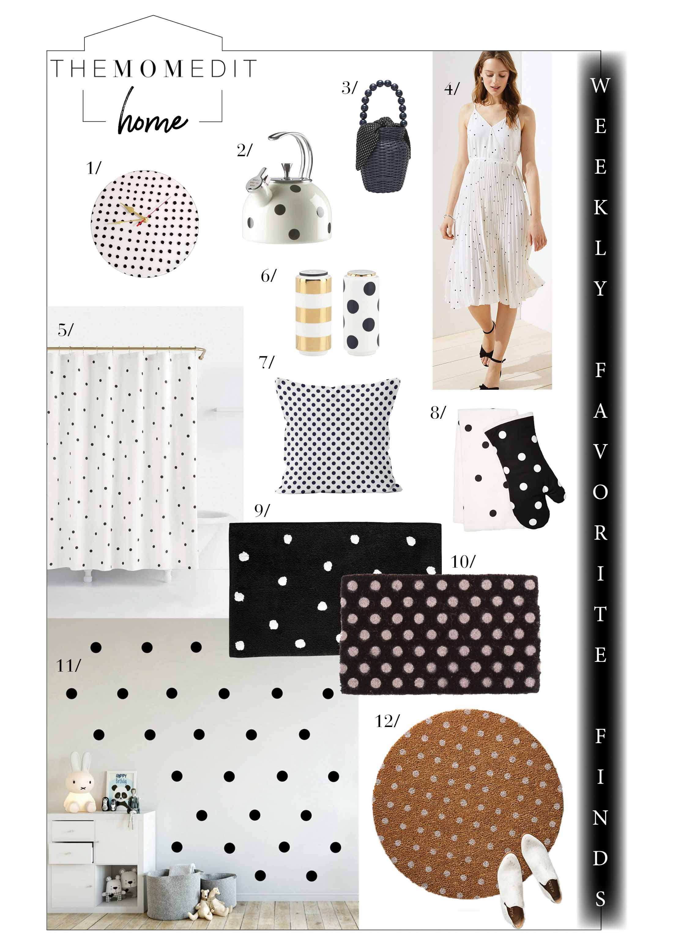 We're connecting the dots for the weekly favorite finds — polka dots specifically. In the kitchen, in the bathroom, for wall art decor...plus, the sales.
