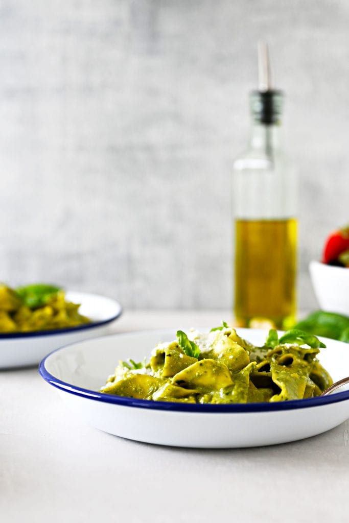 I'm casually labelling this pesto genovese recipe The Best Pesto I've Ever Had: a smooth puree, thin enough to coat each piece of pasta in velvety oblivion.