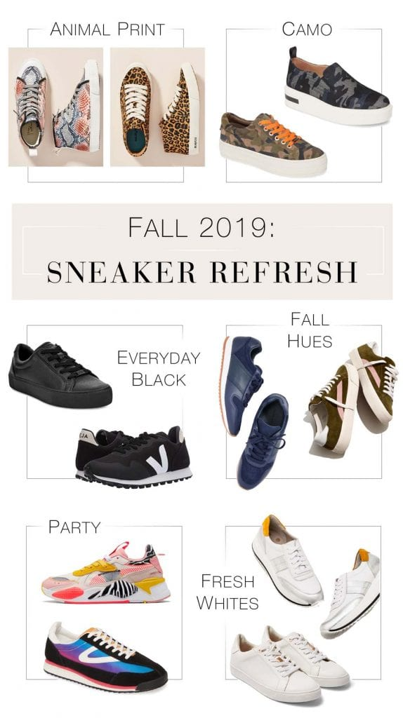 Animal print, camo, chunky, fresh whites & everyday black — we've got the fall sneaker trends on lock. Our top tennis shoes pics for the ladies, right here.