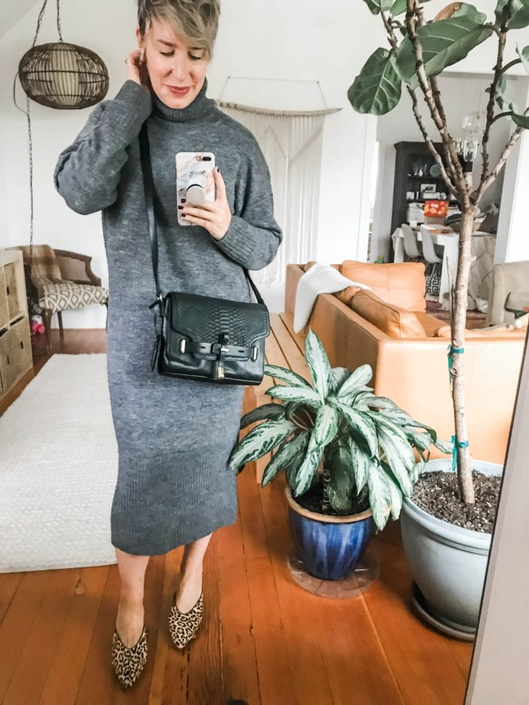 Hey! We've got a cozy knit midi sweater dress — a cute, on-trend fall fashion must-have. Style this dress with sneaks, boots, denim jackets..see all 8 ways.