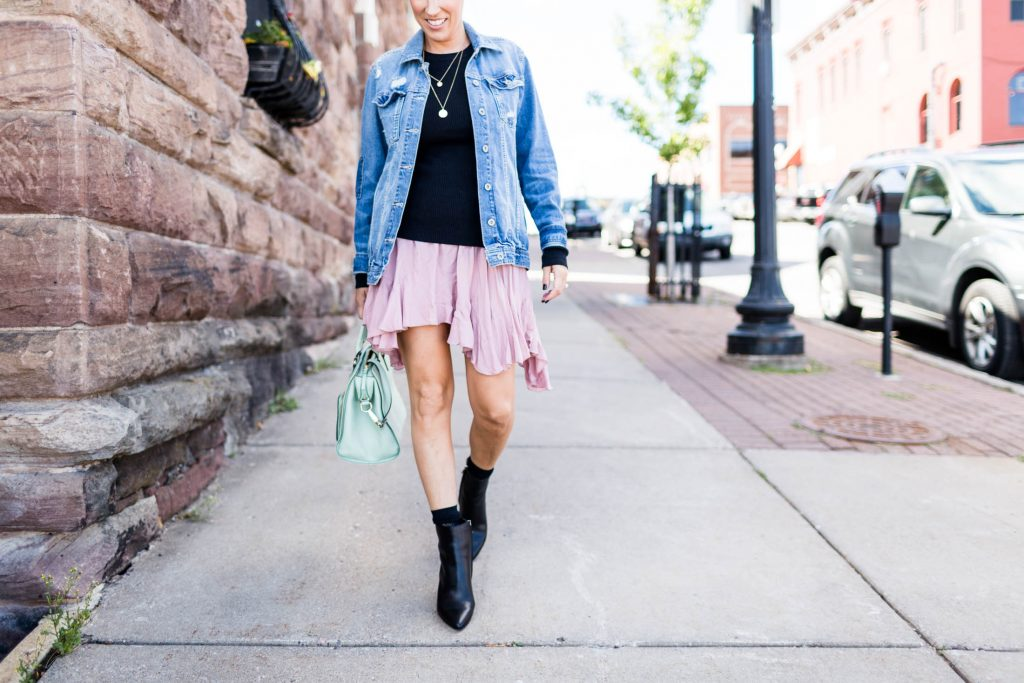 Our new fav boots paired w/ our fav skirts—an easy way to wardrobe update for fall. These boots are cute, comfy & on-trend. Here are 2 ways to wear 'em.