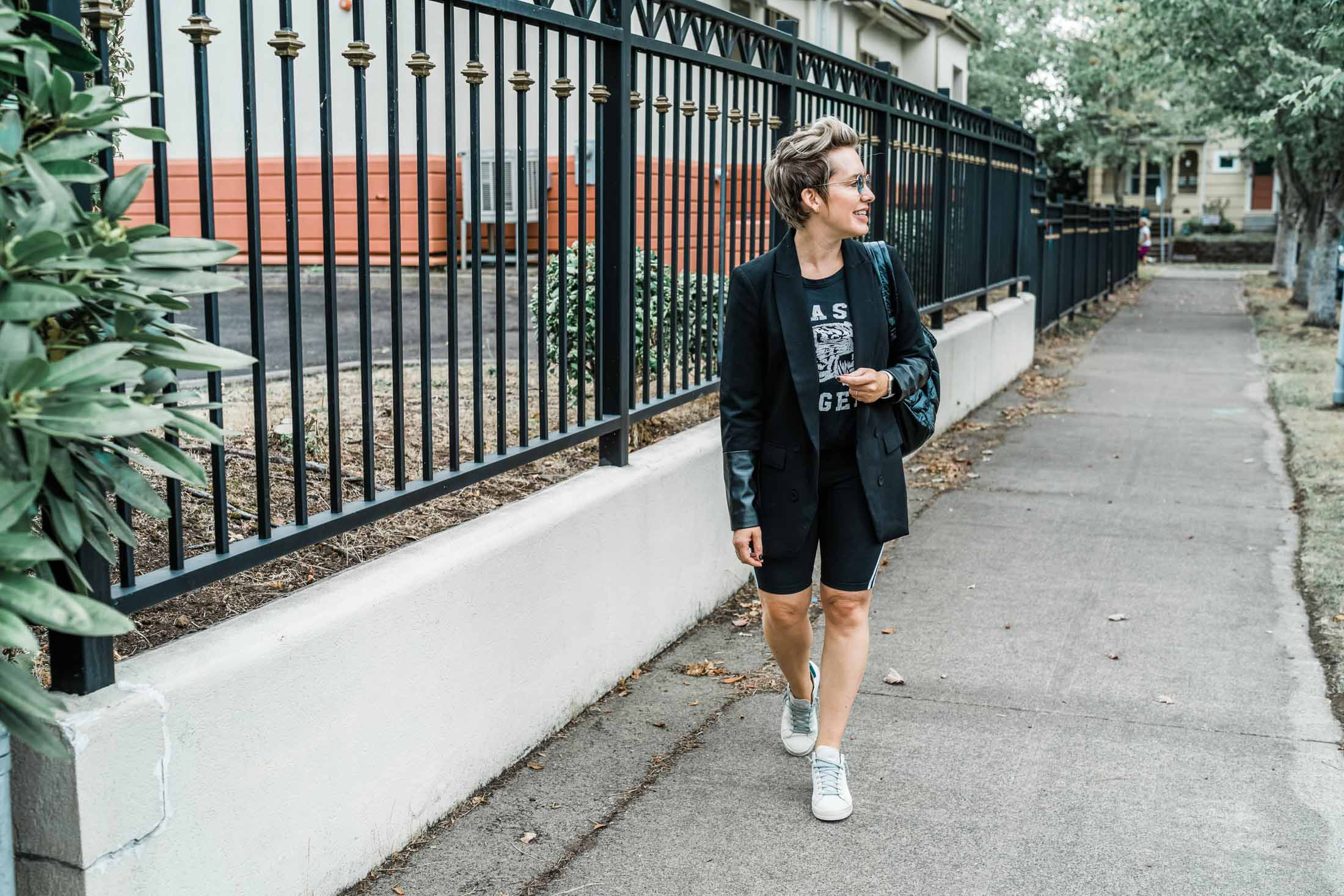 That Time We All Tried Styling Biker Shorts The Mom Edit