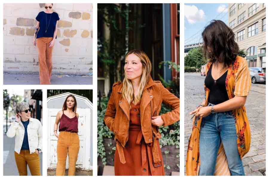 Fall color is all about warmer tones. Hues like tan, camel...mahogany, terracotta, goldenrod, honey... or bronze. ALL the browns feel super fresh this fall.