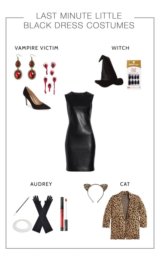 Audrey Hepburn? Witch? Vampire Victim? Vague-Cat-Like-Animal....All these last-minute Halloween costumes are possible...just add a Little Black Dress. DONE.