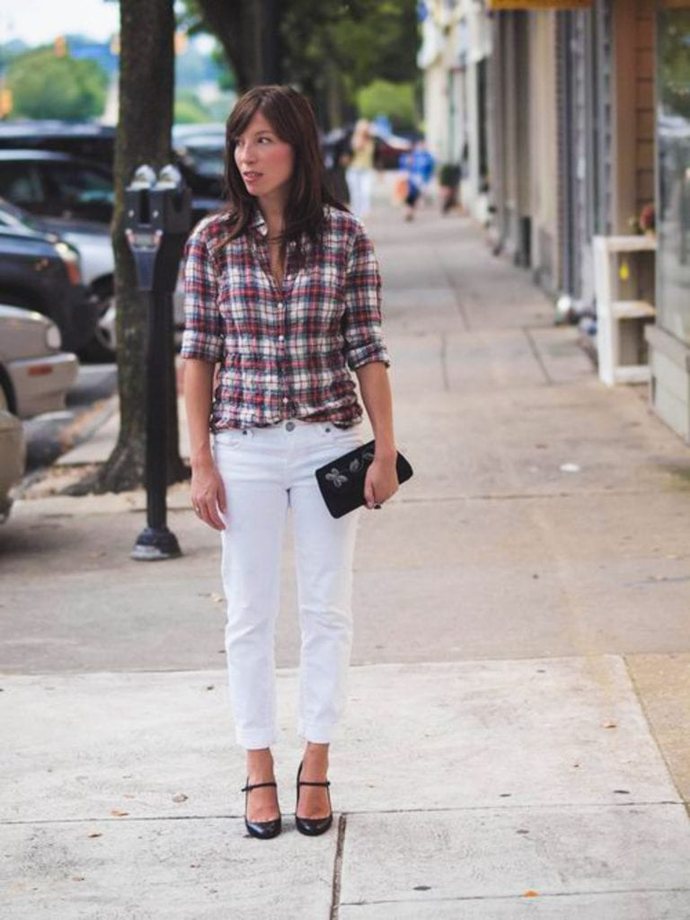 We're v. familiar w/ throwing fashion rules out the window here (BYEEE!). Now: wearing white jeans after Labor Day. See our 13 ways to wear white jeans.