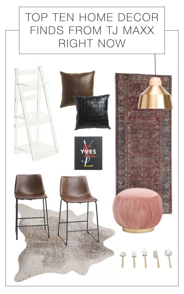 Affordable home decor? We're on it. TJ Maxx has deals we love & love to live with at home. Faux leather, metal accents, seating. Our top 10 pieces, inside.
