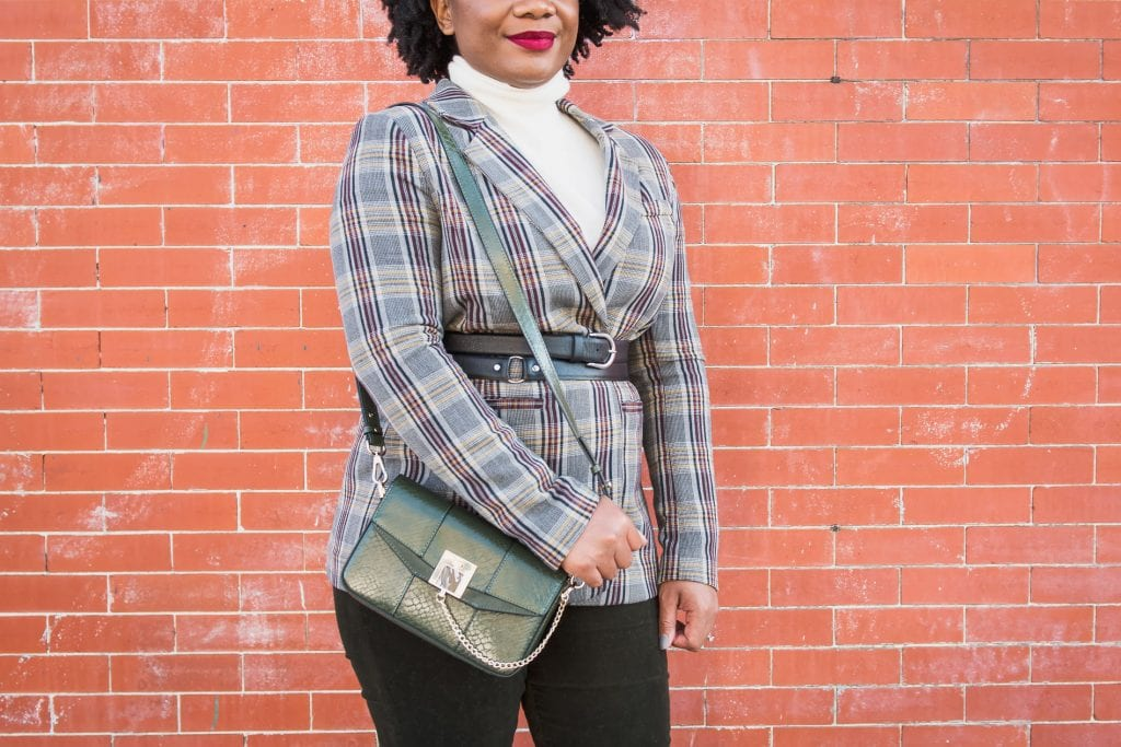 """Strutting into autumn like...""""All about plaid""""... """"Mad about plaid."""" We could go on about 1 of our fav fall fashion trends & we do. Mixing prints & patterns, inside."""
