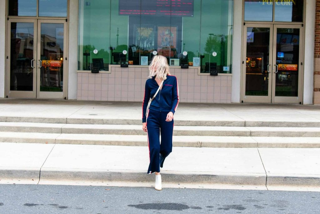 What Can I Wear That's Basically Loungewear But Cool (& not loungewear)? This Viva La Mere tracksuit. BURU donates 10%of each sale to Bring Change to Mind.